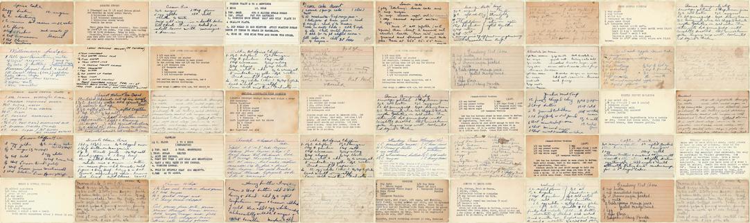 Flea Market Mix - Recipe Cards in Parchment