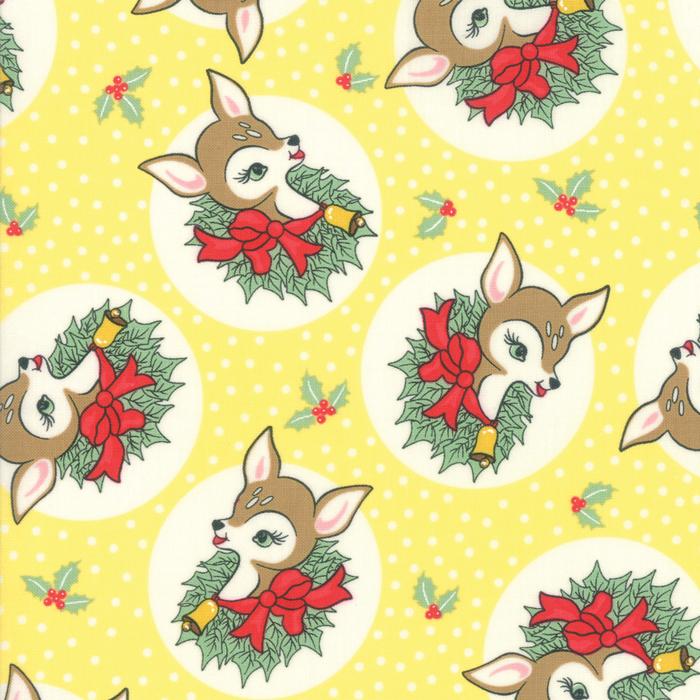 Deer Christmas - Polka Dot Deer in Twinkle