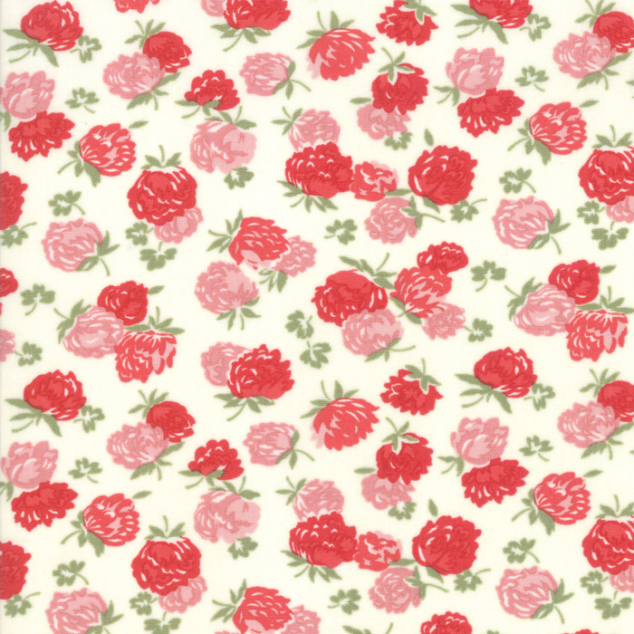 At Home - Blossoms in Cream and Red