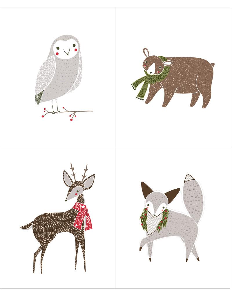 Merriment Winter Critter Panel - Multi