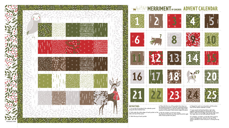 Merriment Advent Calendar Panel - Multi