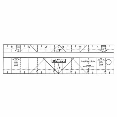 Log Cabin Ruler 3/4 x 1.5
