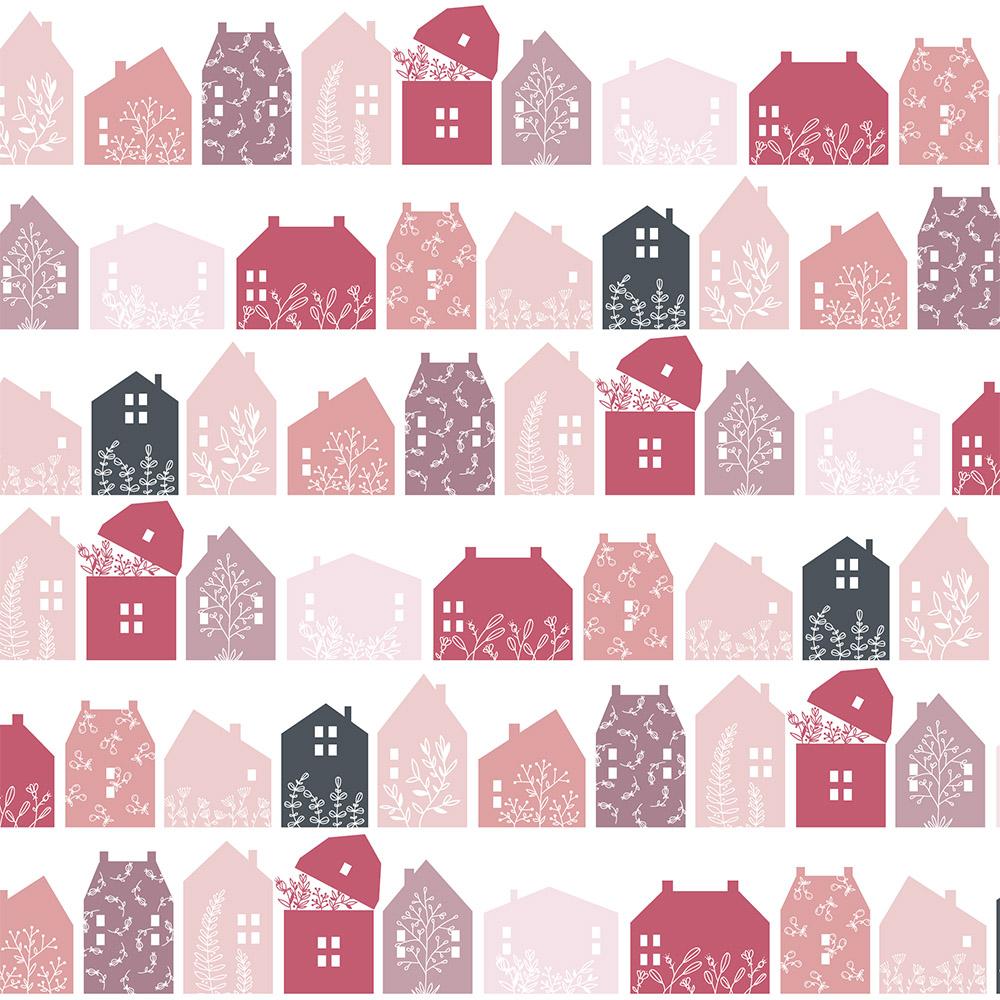 Gingham Farmhouse - Farmhouse Row Pink