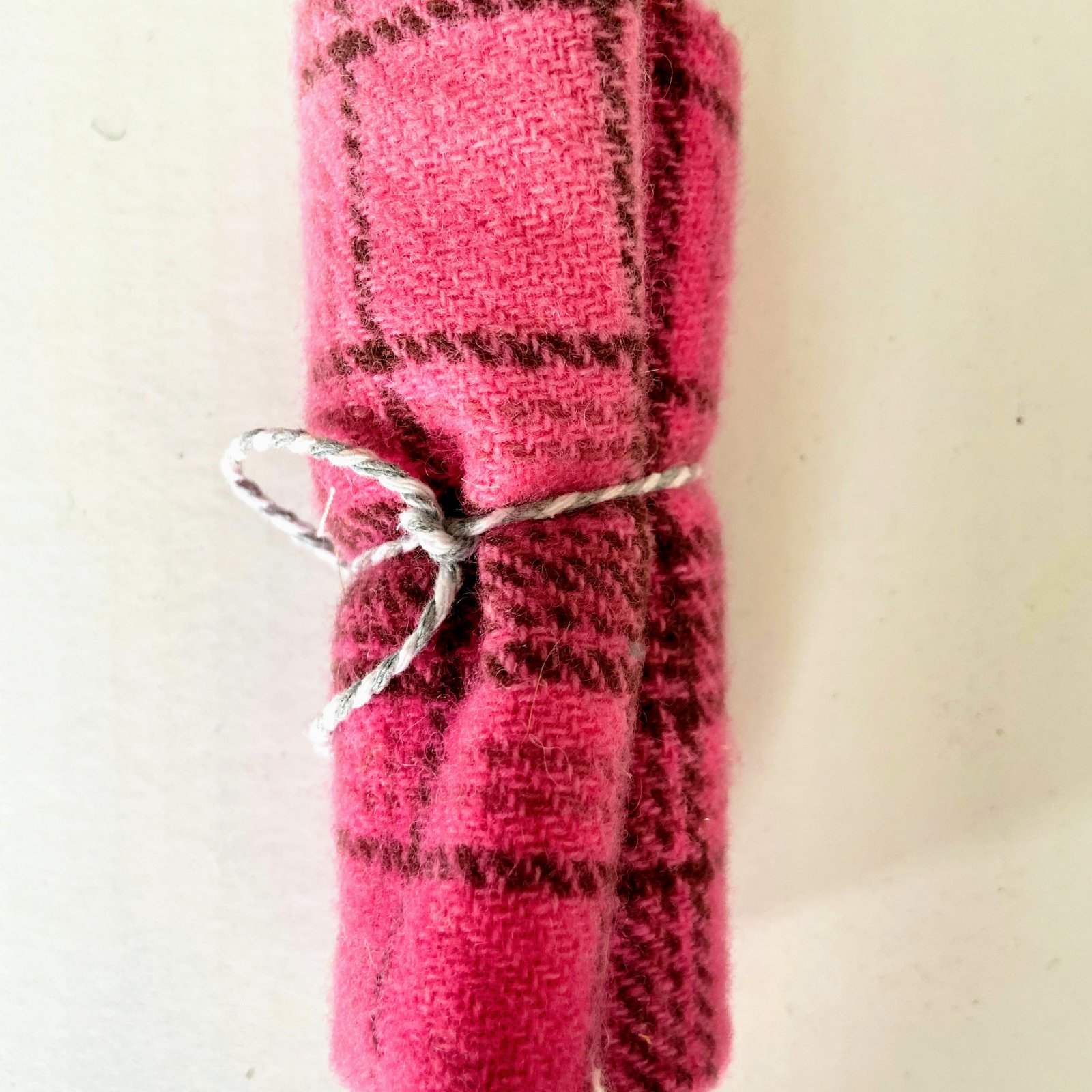 Wool 8 x 12 - Pink Plaid