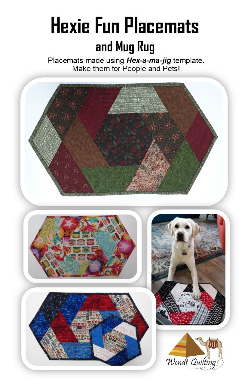 Hexie Fun Placemats and Mug Rug