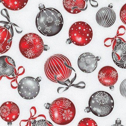 Holiday Flourish 13 - Ornaments on White