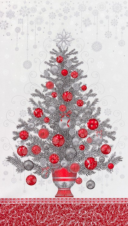 Holiday Flourish 13 - Tree Panel
