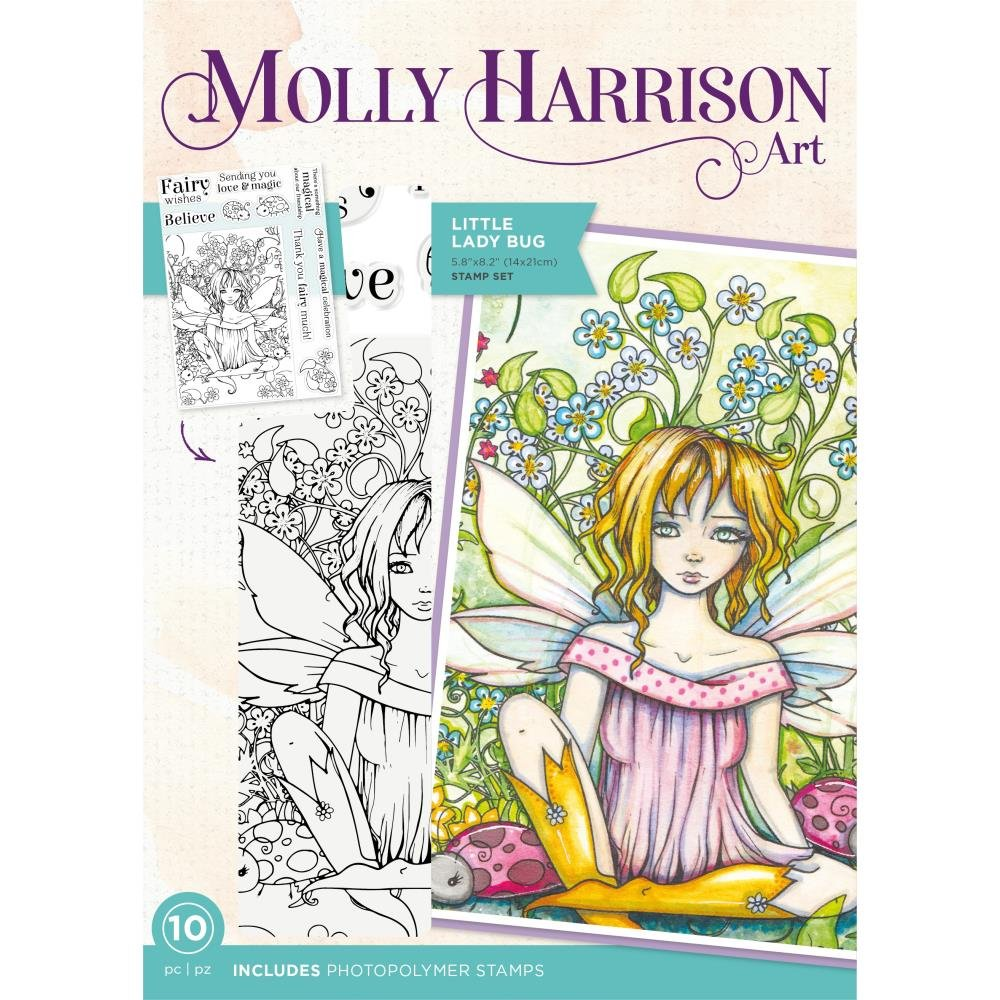 Crafter's Companion Photopolymer Stamps By Molly Harrison-Little Lady Bug