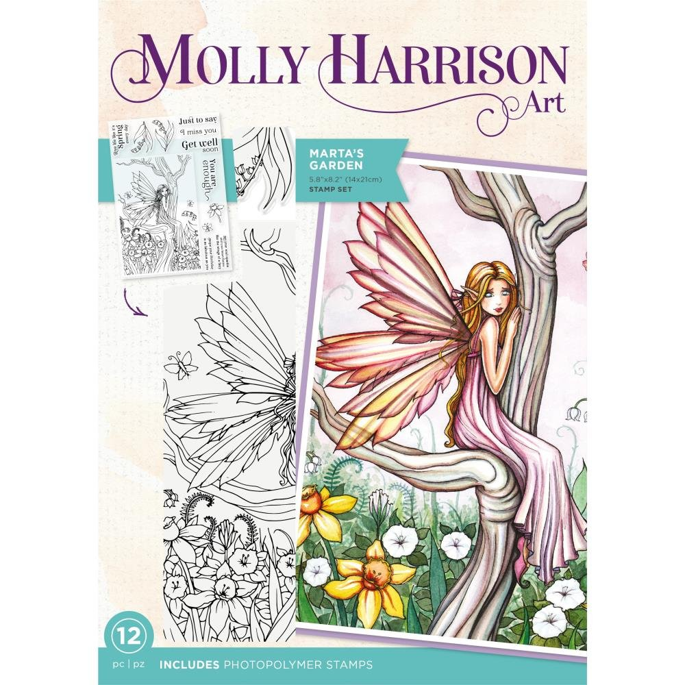 Crafter's Companion Photopolymer Stamps By Molly Harrison-Martais Garden