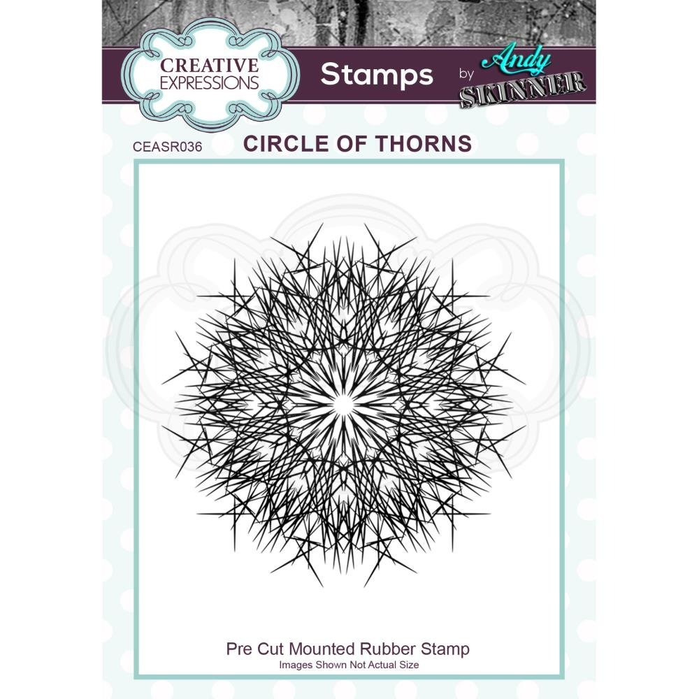 Creative Expressions Rubber Stamp By Andy Skinner-Circle Of Thorns