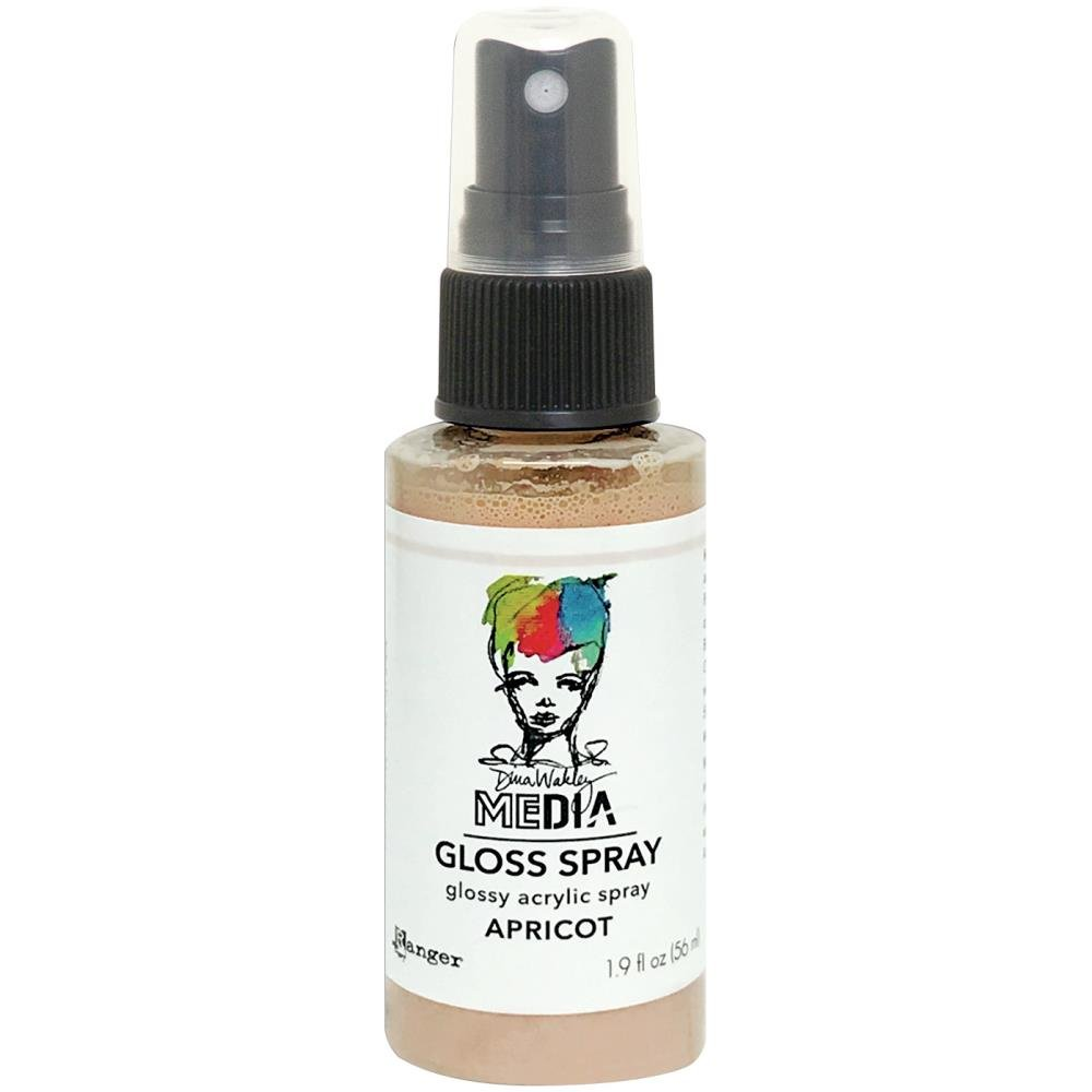 Dina Wakley Media Gloss Sprays 2oz-Apricot