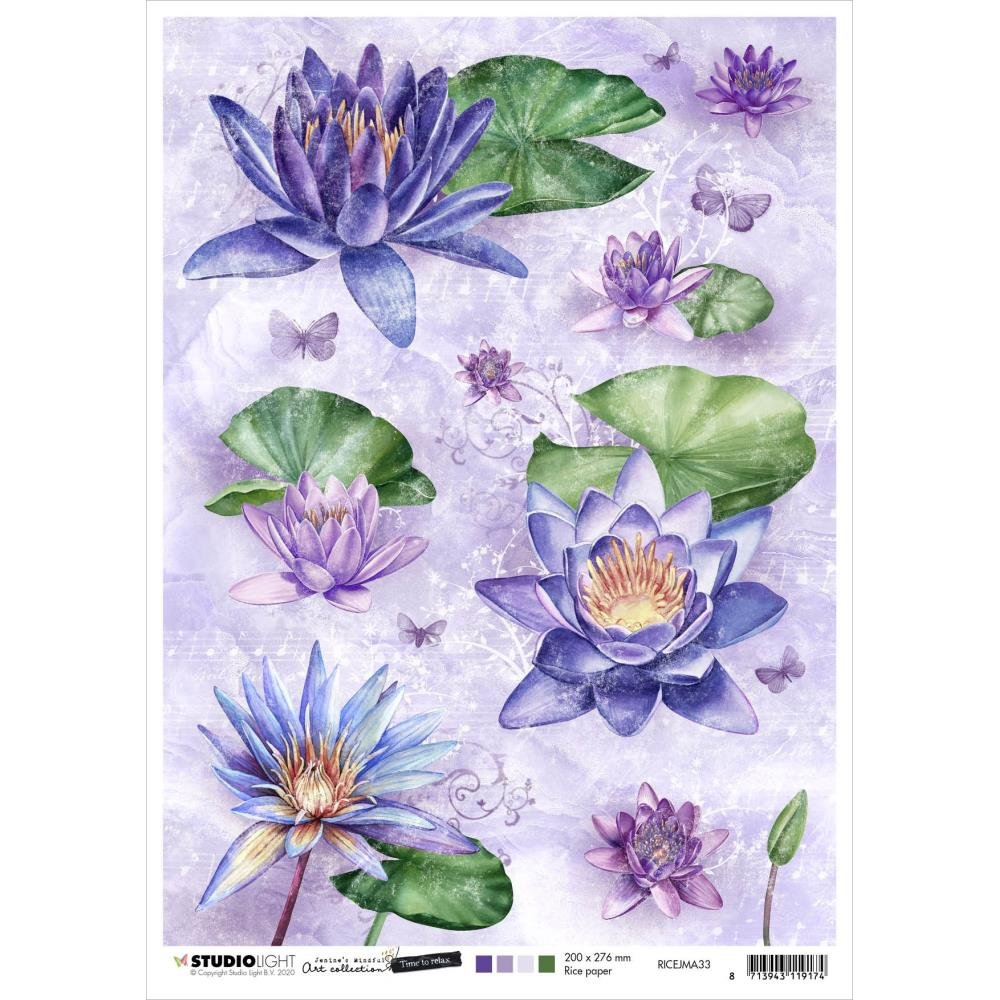 Jenine's Mindful Art Time To Relax Rice Paper Sheet A4 nr. 33