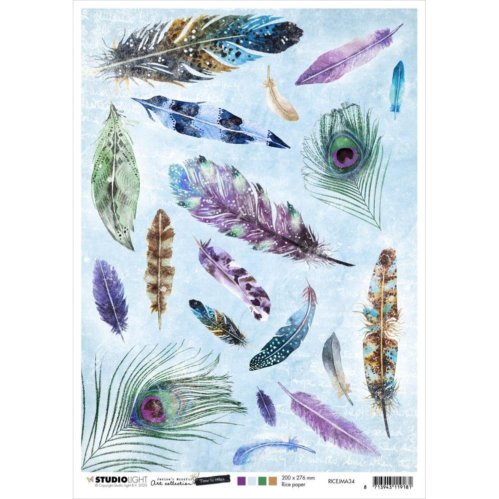 Jenine's Mindful Art Time To Relax Rice Paper Sheet A4 nr. 34