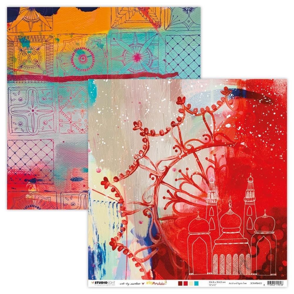 Art By Marlene Artsy Arabia Double-Sided Cardstock 12X12 nr. 03