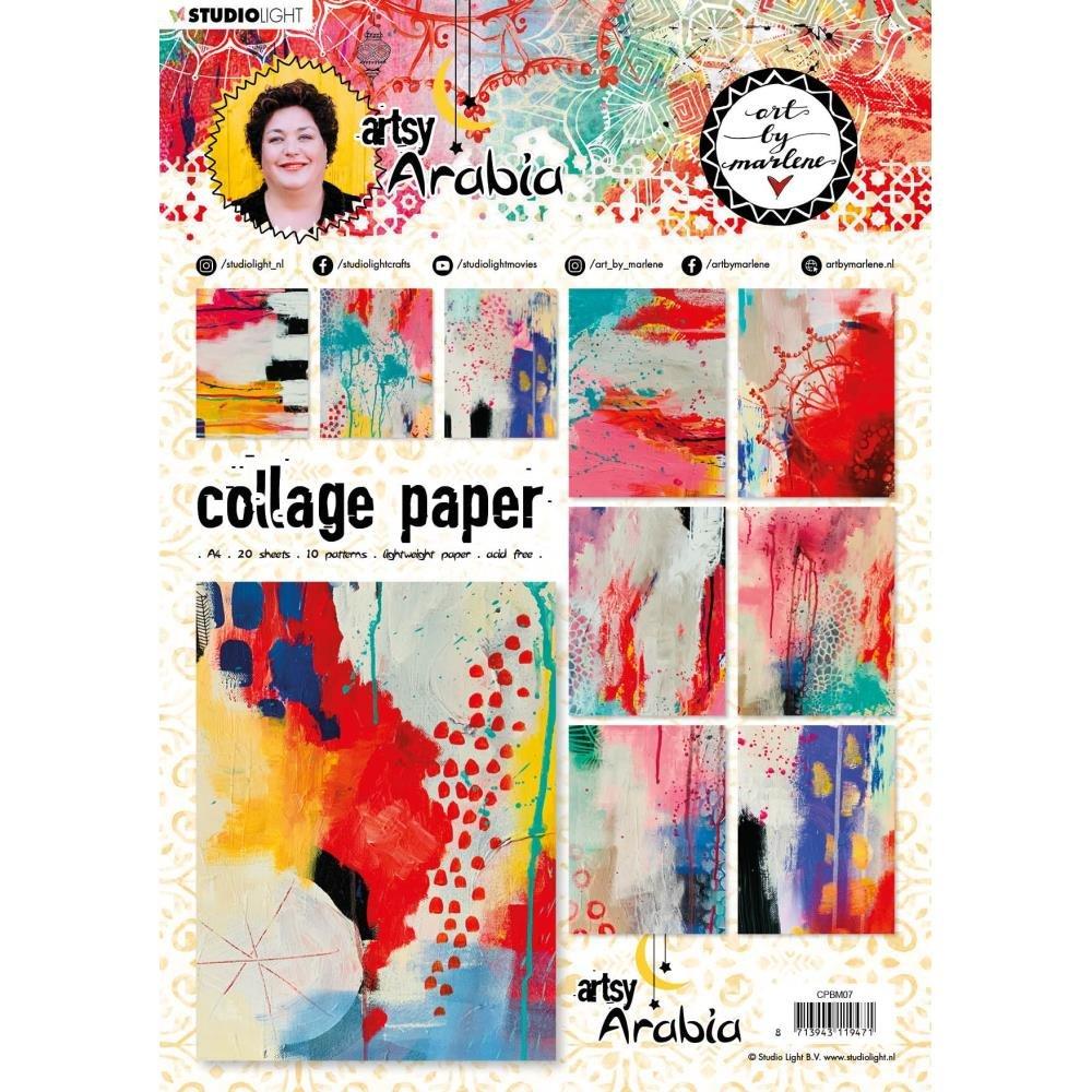 Studio Light Art By Marlene Artsy Arabia Collage Paper nr. 07