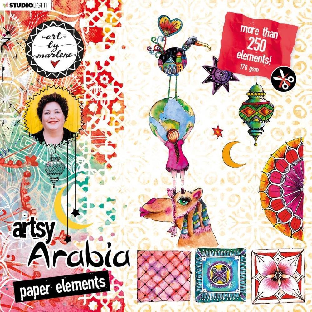 Studio Light Art By Marlene Artsy Arabia Die Cut Block BLOKBM02