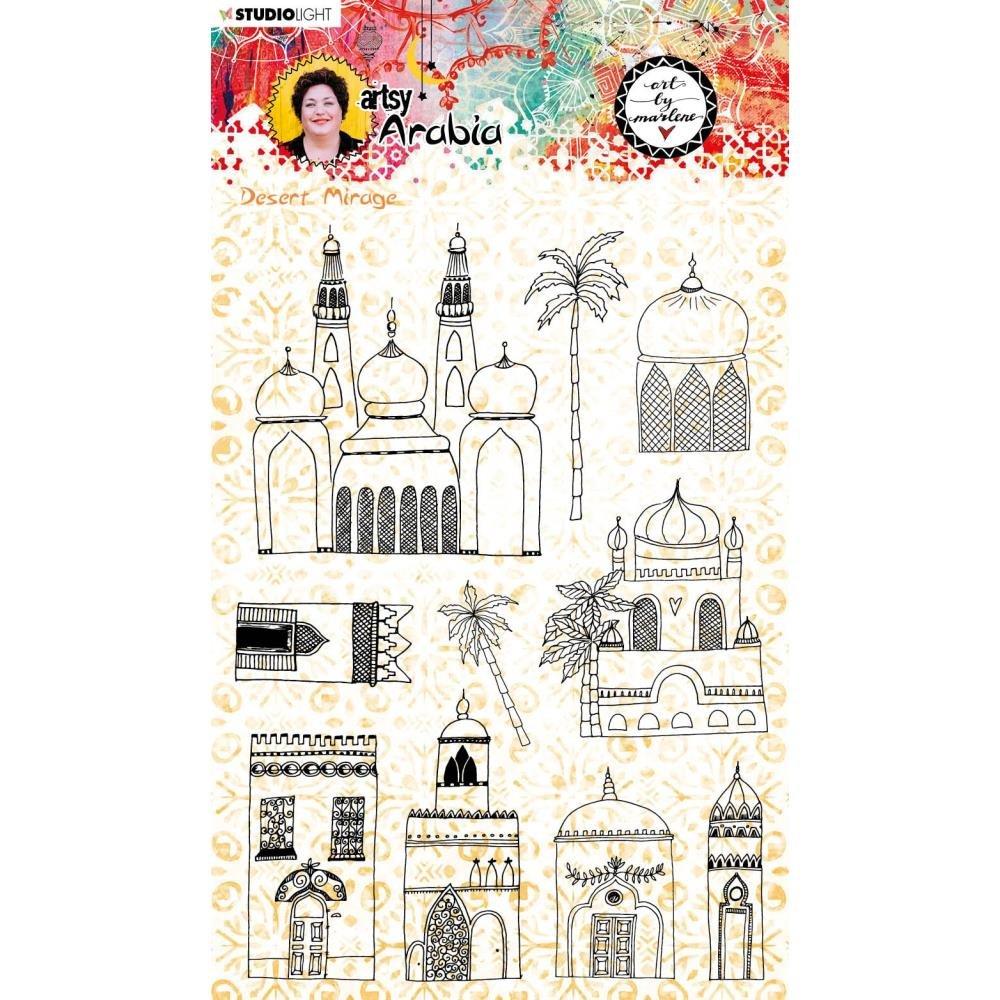 Studio Light Art By Marlene Artsy Arabia Clear Stamp Set nr. 58