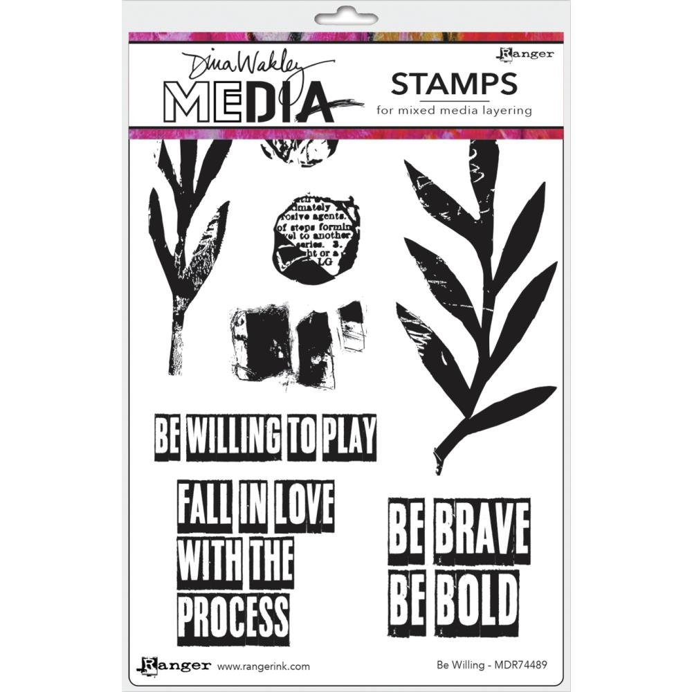 Dina Wakley Media Cling Stamps 6X9-Be Willing