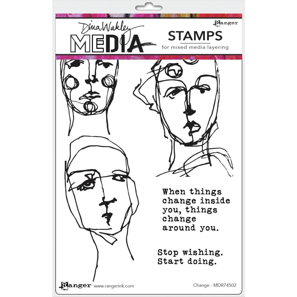 Dina Wakley Media Cling Stamps 6X9-Change