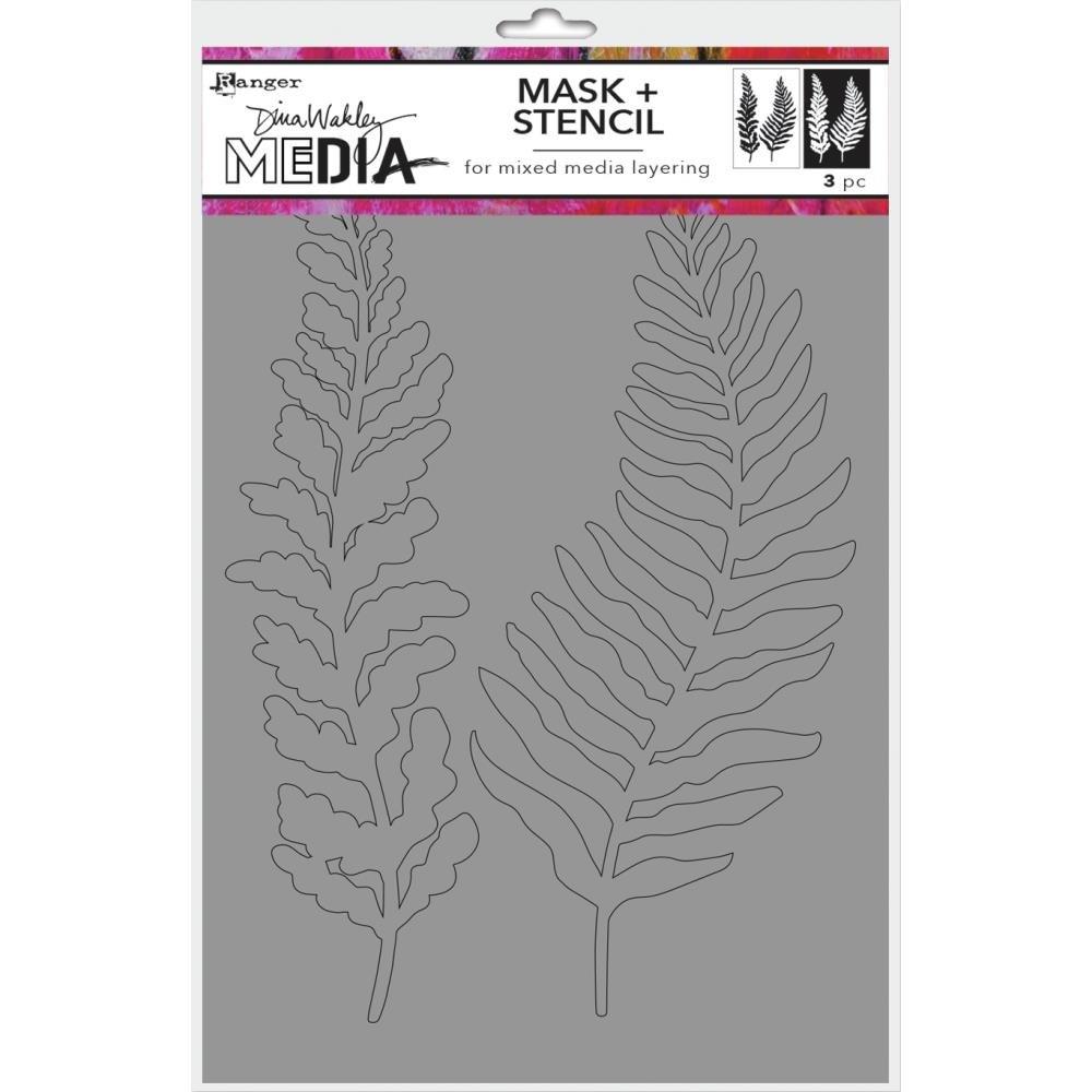 Dina Wakley Media Stencils + Masks 6X9-Curly Frond