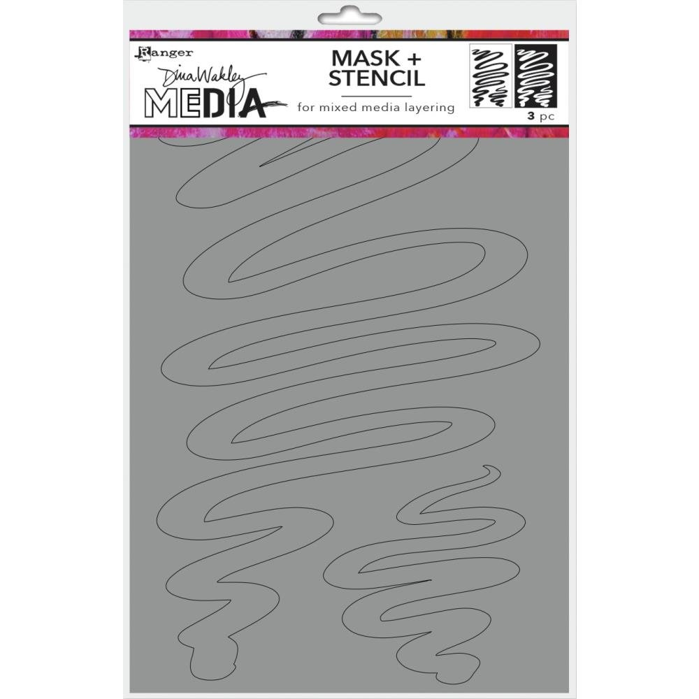 Dina Wakley Media Stencils + Masks 6X9-Meandering