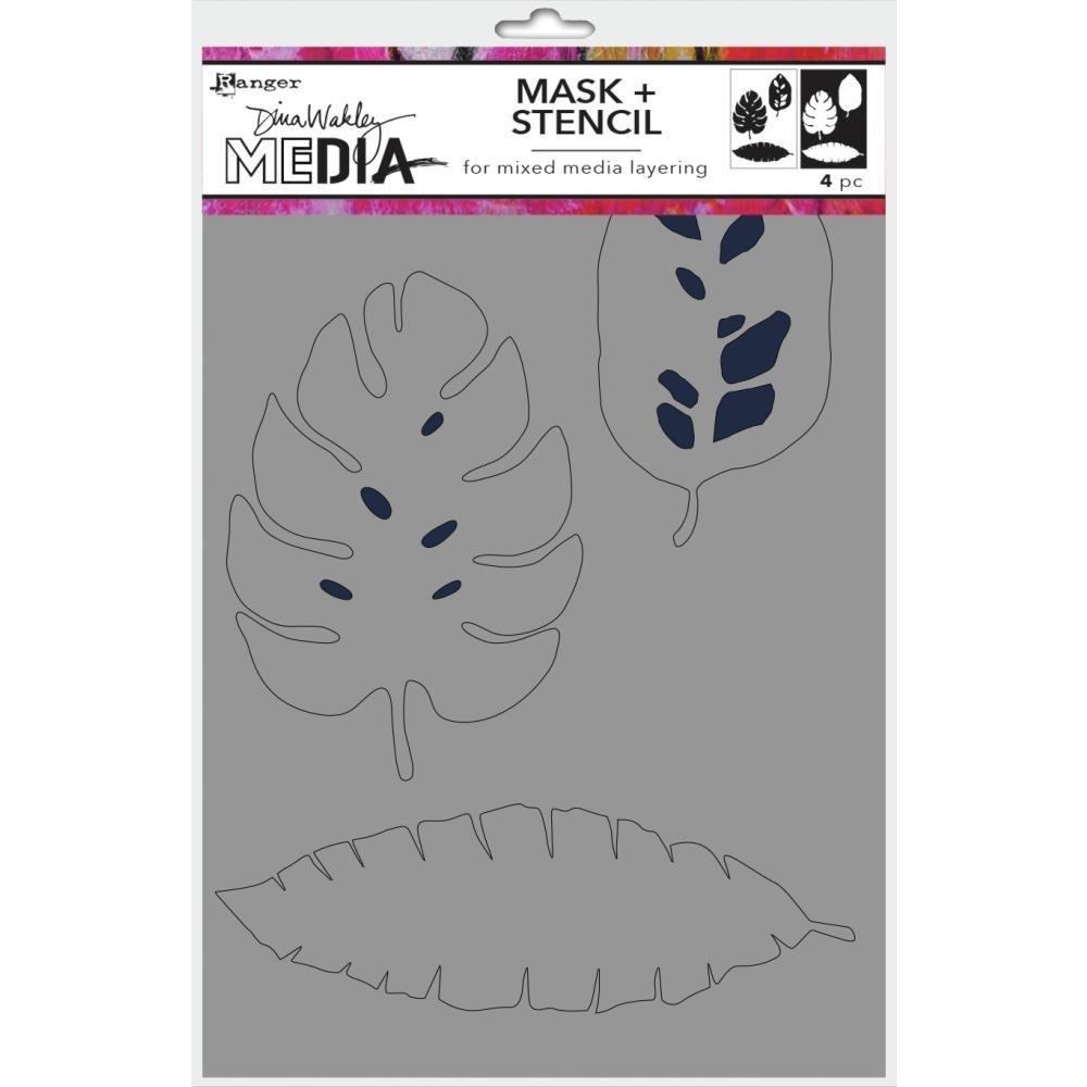 Dina Wakley Media Stencils + Masks 6X9-Tropical
