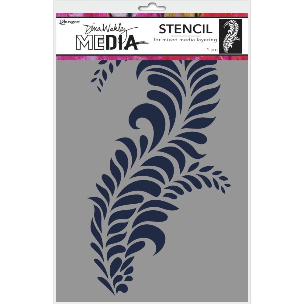 Dina Wakley Media Stencils 9X6-Giant Flourish