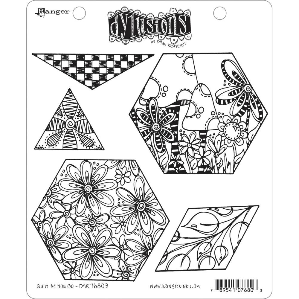 Dyan Reaveley's Dylusions Cling Stamp Collections 8.5X7 - Quilt As You Go