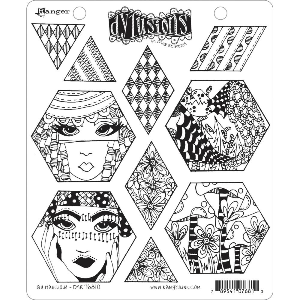 Dyan Reaveley's Dylusions Cling Stamp Collections 8.5X7-Quiltalicious