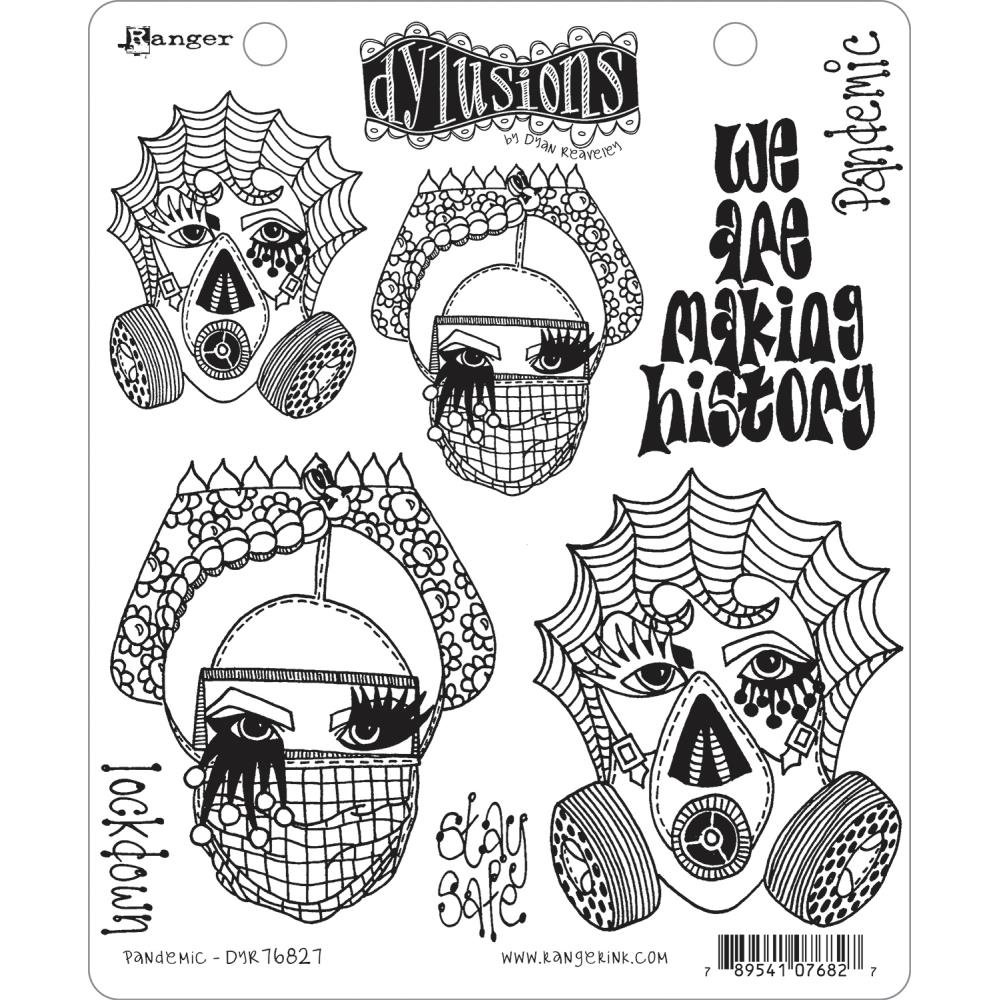 Dyan Reaveley's Dylusions Cling Stamp Collections 8.5X7-Pandemic