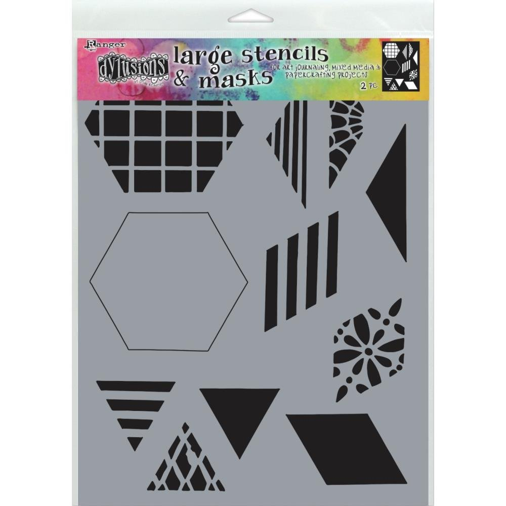 Dyan Reaveley's Dylusions Stencils 9X12-2 Quilt