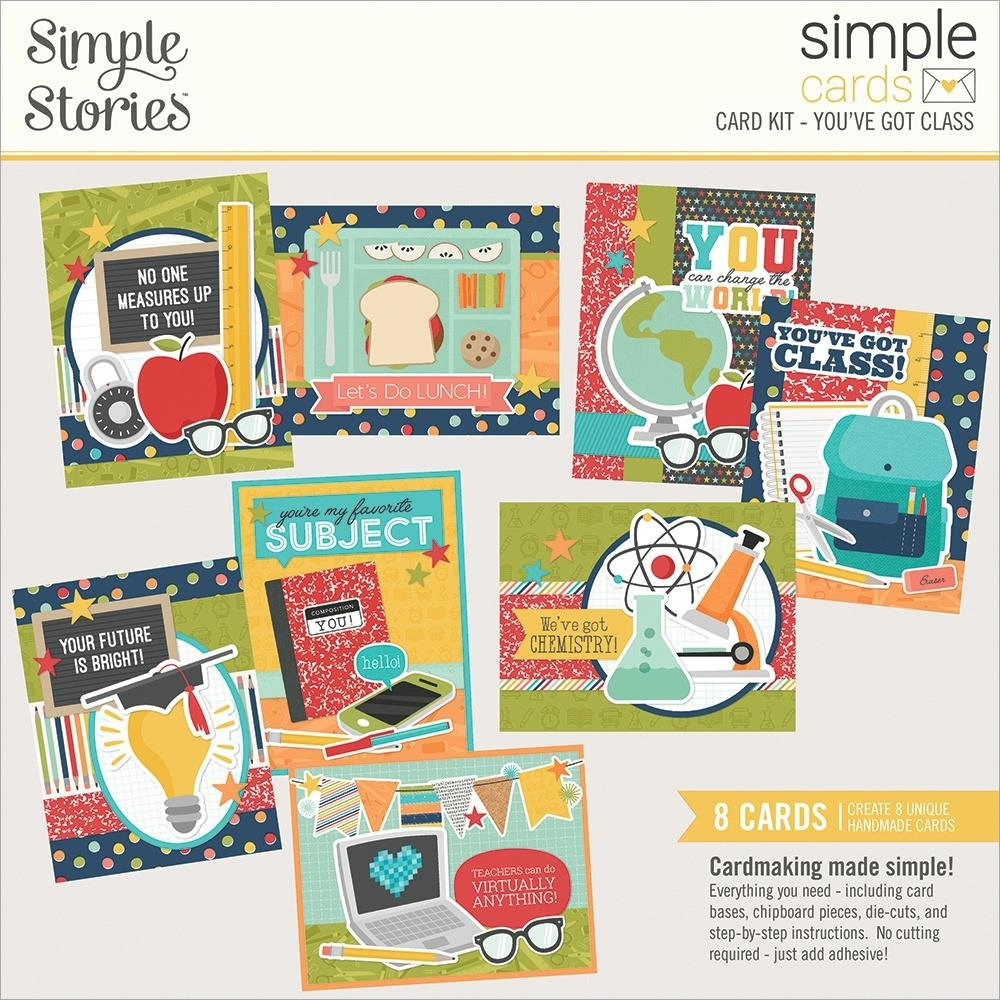 Simple Stories Simple Cards Card Kit-You've Got Class