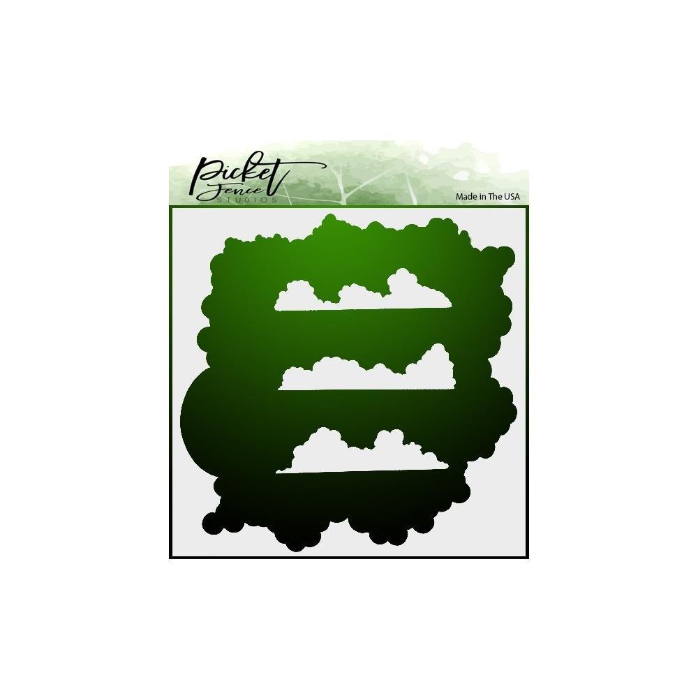 Picket Fence Studios Stencil 6X6-Cloud Coverage