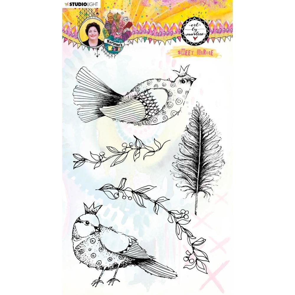 Studio Light Marlene's World Clear Stamp-Nr.64, Sweet Birdie