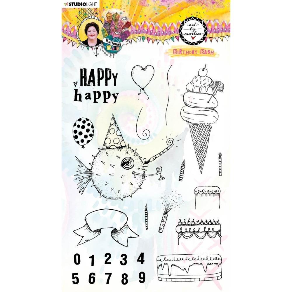 Studio Light Marlene's World Clear Stamp-Nr.67, Birthday Bash