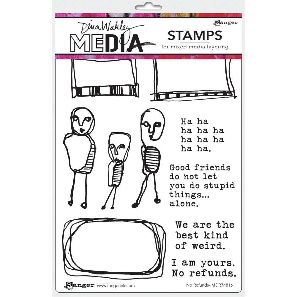 Dina Wakley Media Cling Stamps 6X9-No Refunds