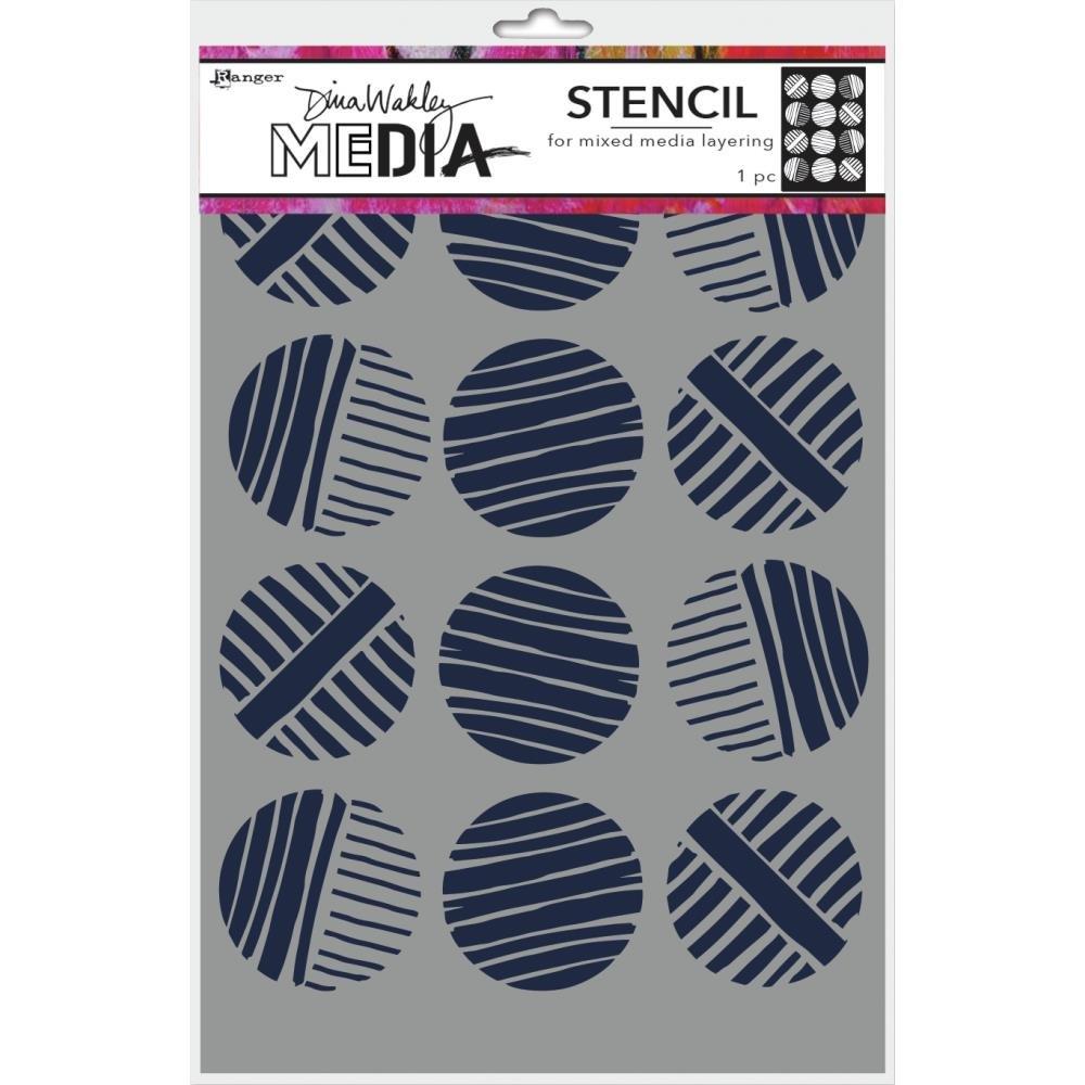 Dina Wakley Media Stencils 9X6-Lined Circles