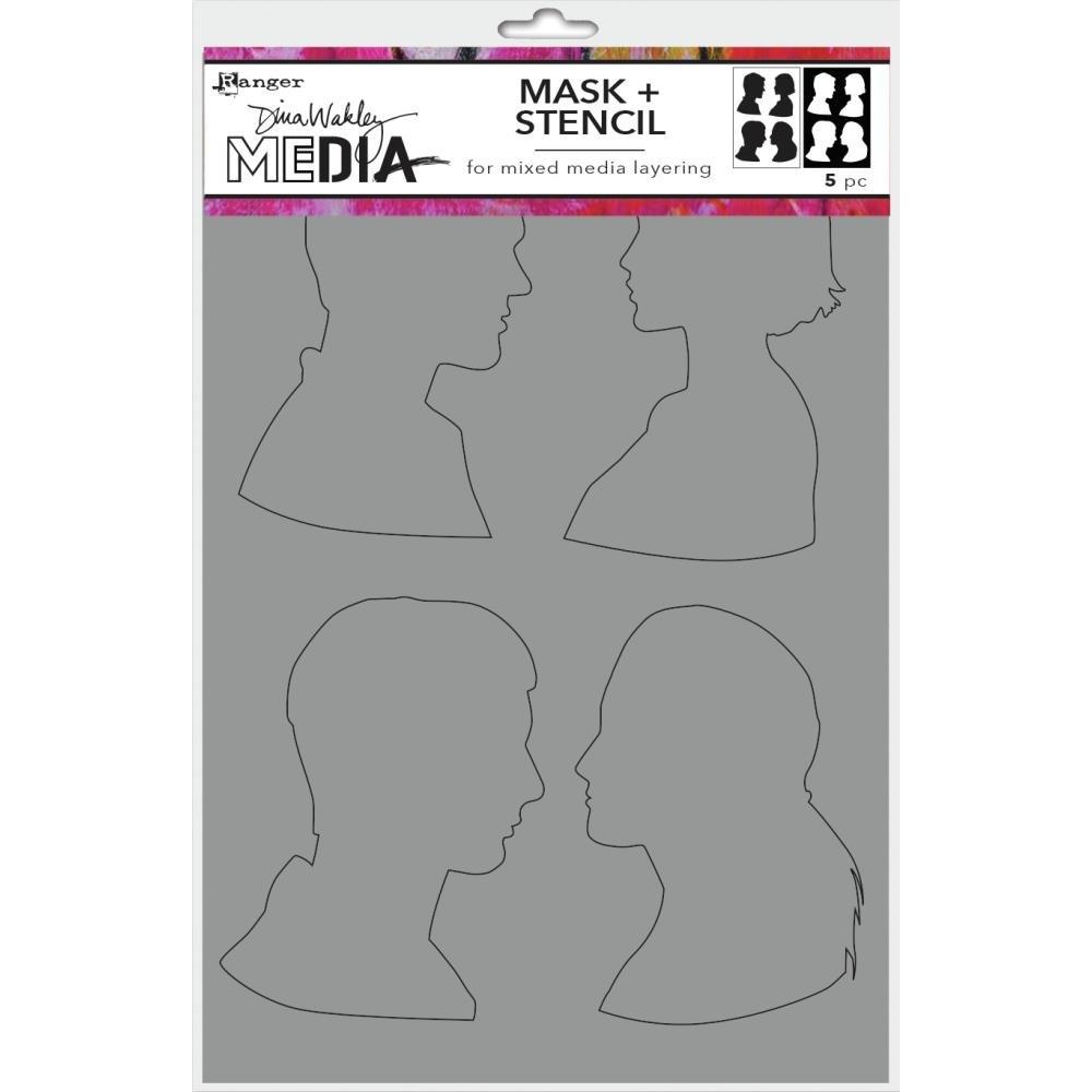 Dina Wakley Media Stencils + Masks 6X9-Profiles