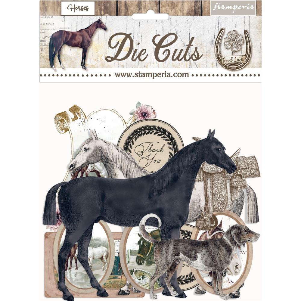 Stamperia Die-Cuts-Romantic Horses
