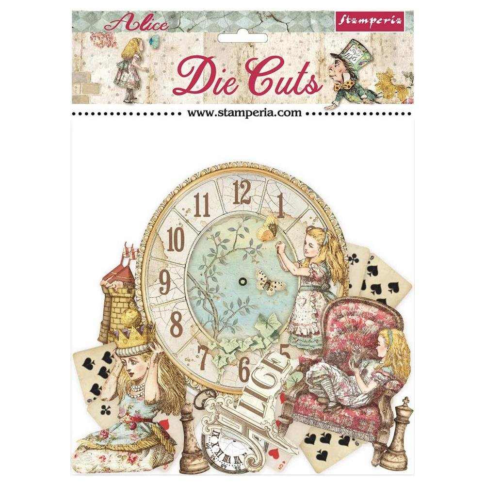 Stamperia Die-Cuts-Alice Through The Looking Glass