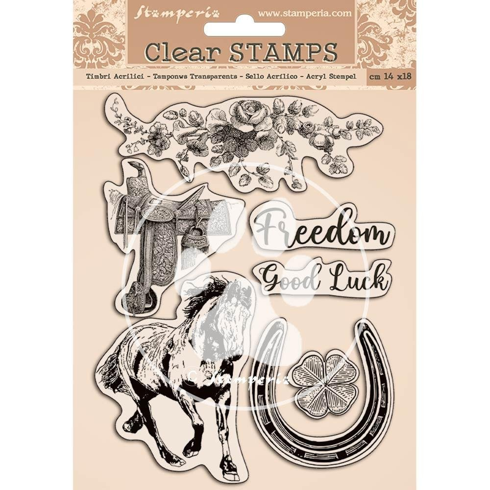 Stamperia Clear Stamps-Romantic Horses
