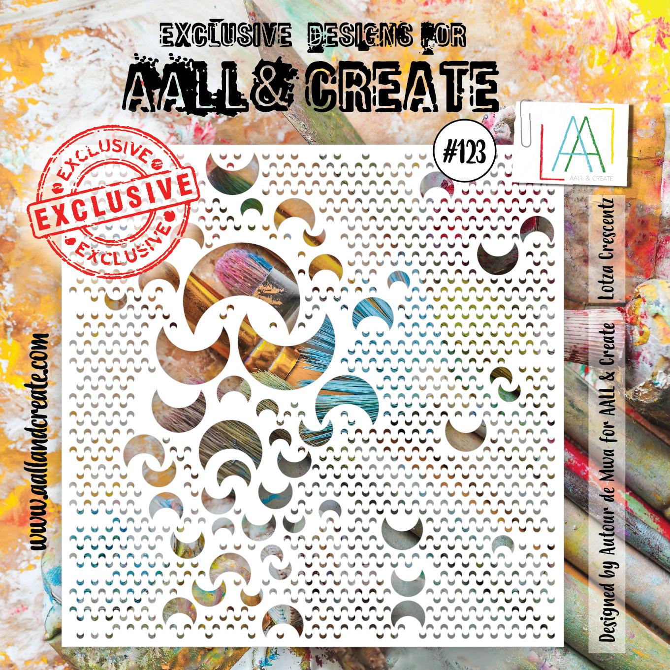 AALL & Create - Stencil - #123 Lotza Crescentz