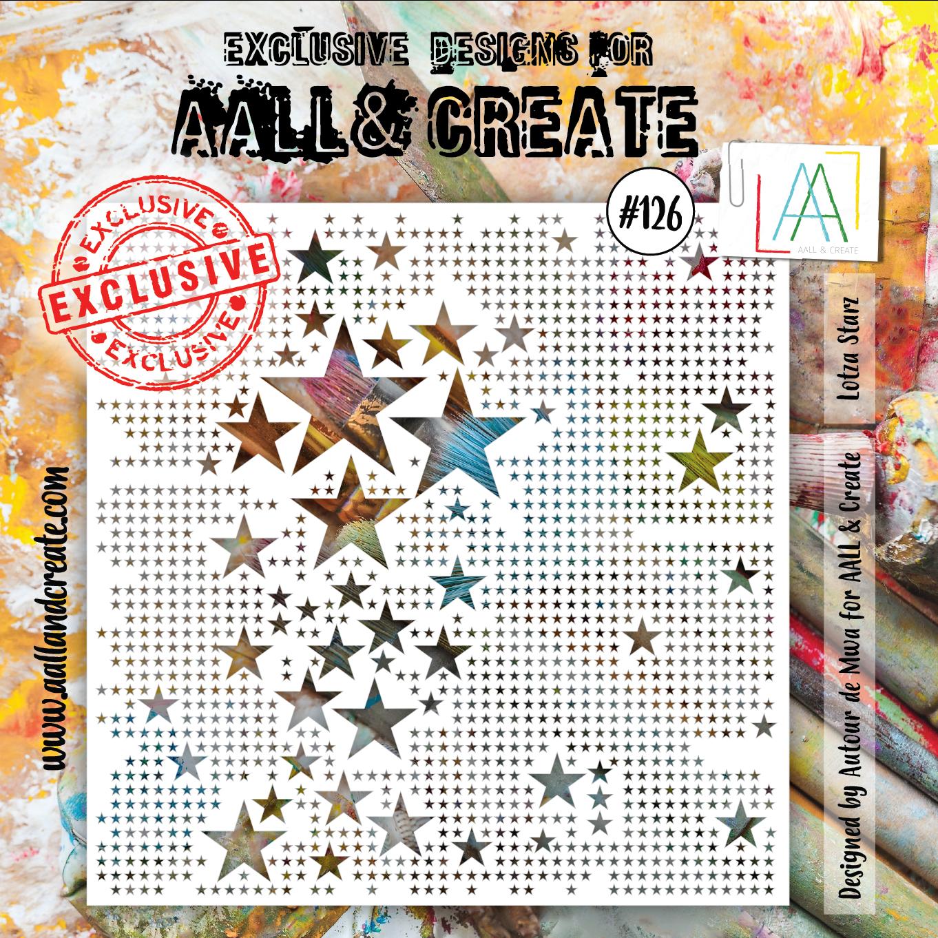 AALL & Create - Stencil - #126 Lotza Stars