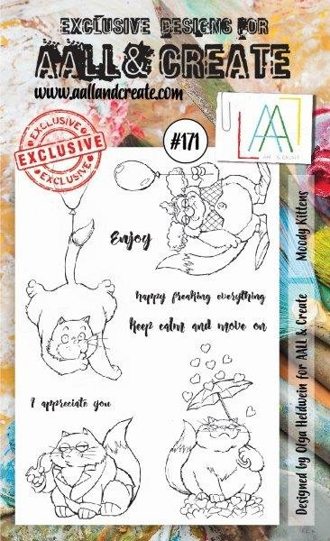 AALL & Create - Stamps - #171 Moody Kittens