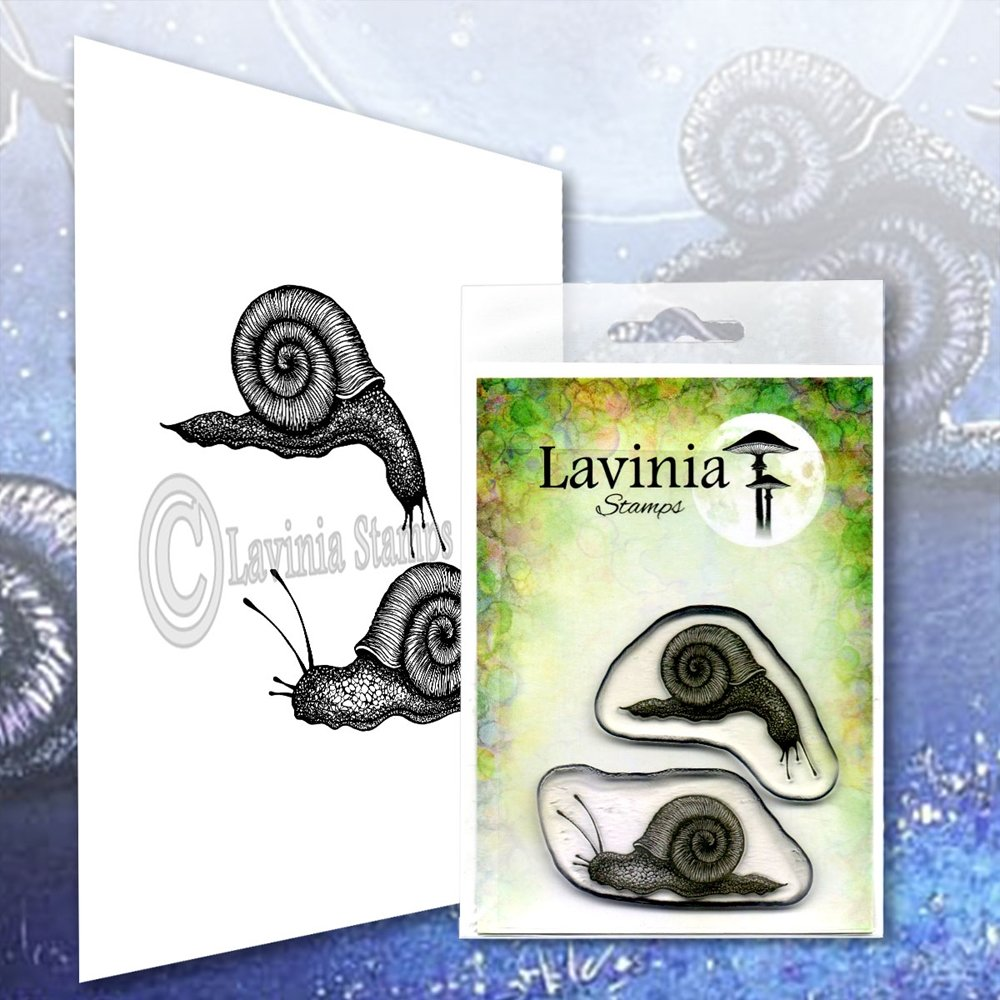 Lavinia Stamps - Snail set LAV607