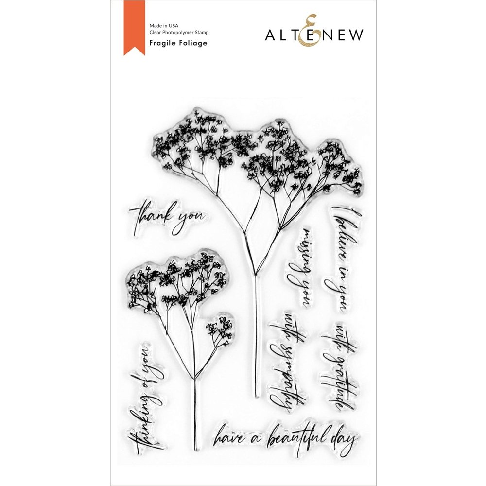 Altenew -  Clear Photopolymer Stamps -  Fragile Foliage