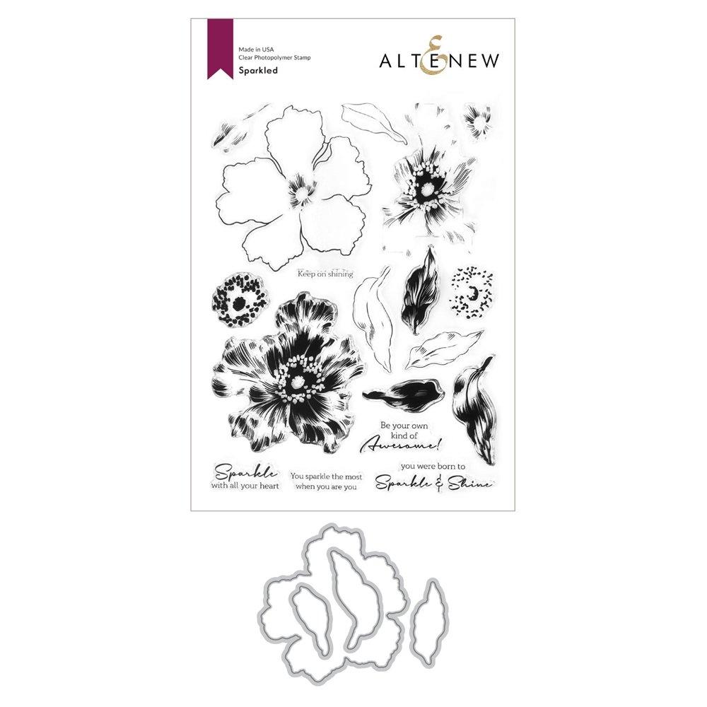 Altenew -  Clear Photopolymer Stamp & Die Set -  Sparkled