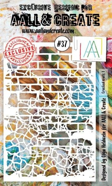 AALL & Create - Stencil - #37 Cracked Walls 1