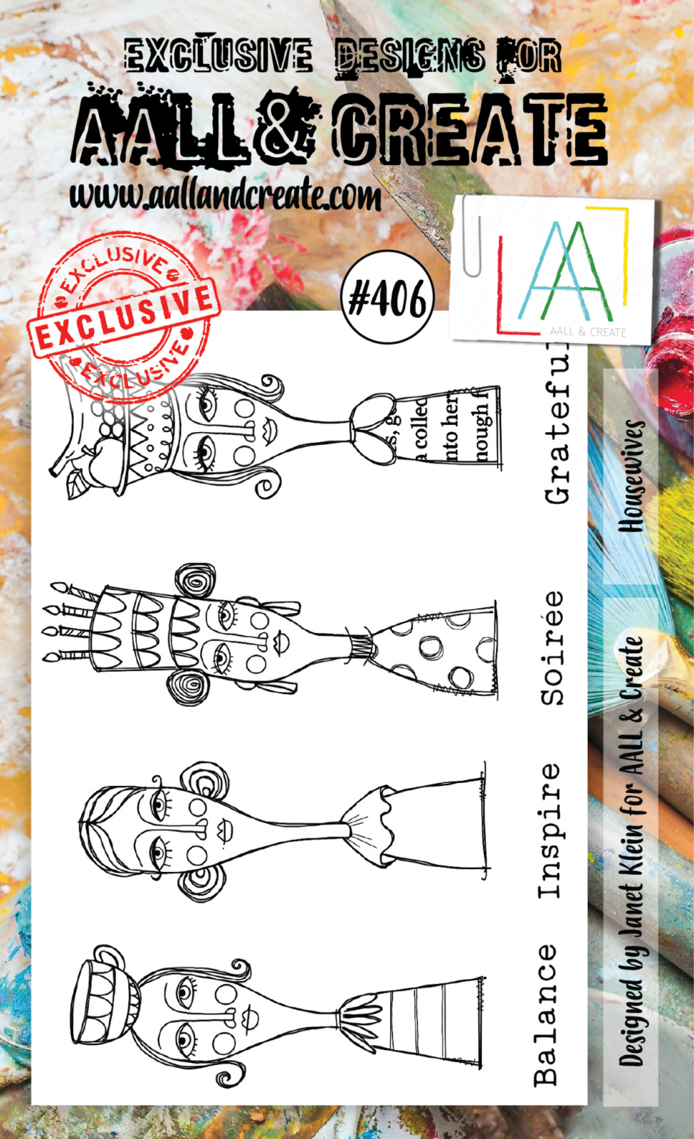 AALL & Create - Stamps - #406 Housewives
