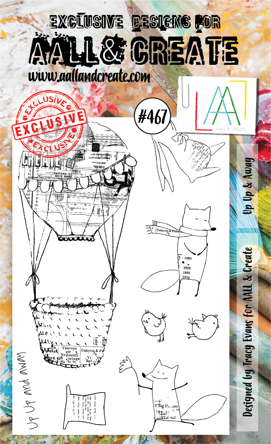 AALL & Create - Stamps - #467 Up Up & Away